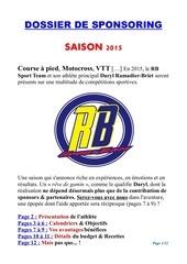 rb sport team sponsoring 2015