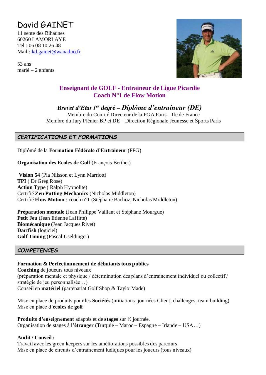 katherine gainet par client - cv david gainet 2 pdf