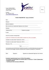 fiche inscription