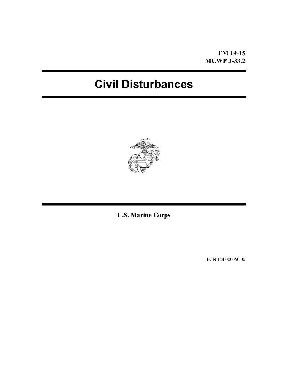 Civil Disturbances - mcwp_3-33.2.pdf - page 1/161