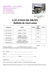 location de draps chalet clavella
