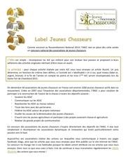 label jeunes chasseurs