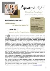 newsletter apostrof rh mai 2012