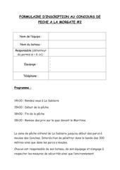 formulaire inscription concours
