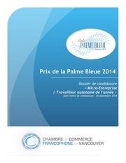 palme bleue 2014 microentreprise de l annee