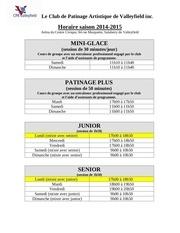Fichier PDF horaire saison 2014 2015