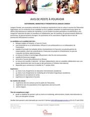 Fichier PDF avis de poste gestionnaire marketing et promotion