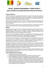 Fichier PDF forum francophonie appel candidature