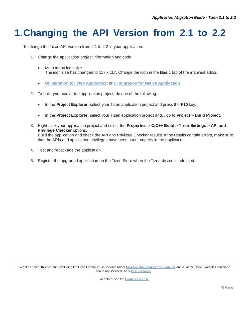 Application Migration Guide Tizen 2 1 to 2 2 par 신선미