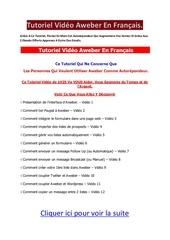 tutoriel video aweber en francais