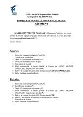 dossier credit