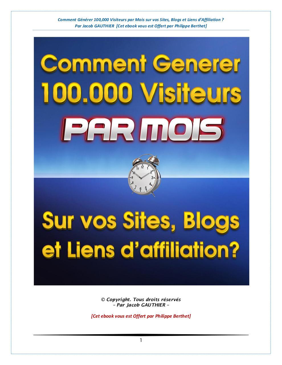Comment gnrer 100000 visiteurs par mois sur vos sites blogs et generer 100000 visiteurspdf page 128 fandeluxe Gallery