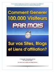 generer 100 000 visiteurs