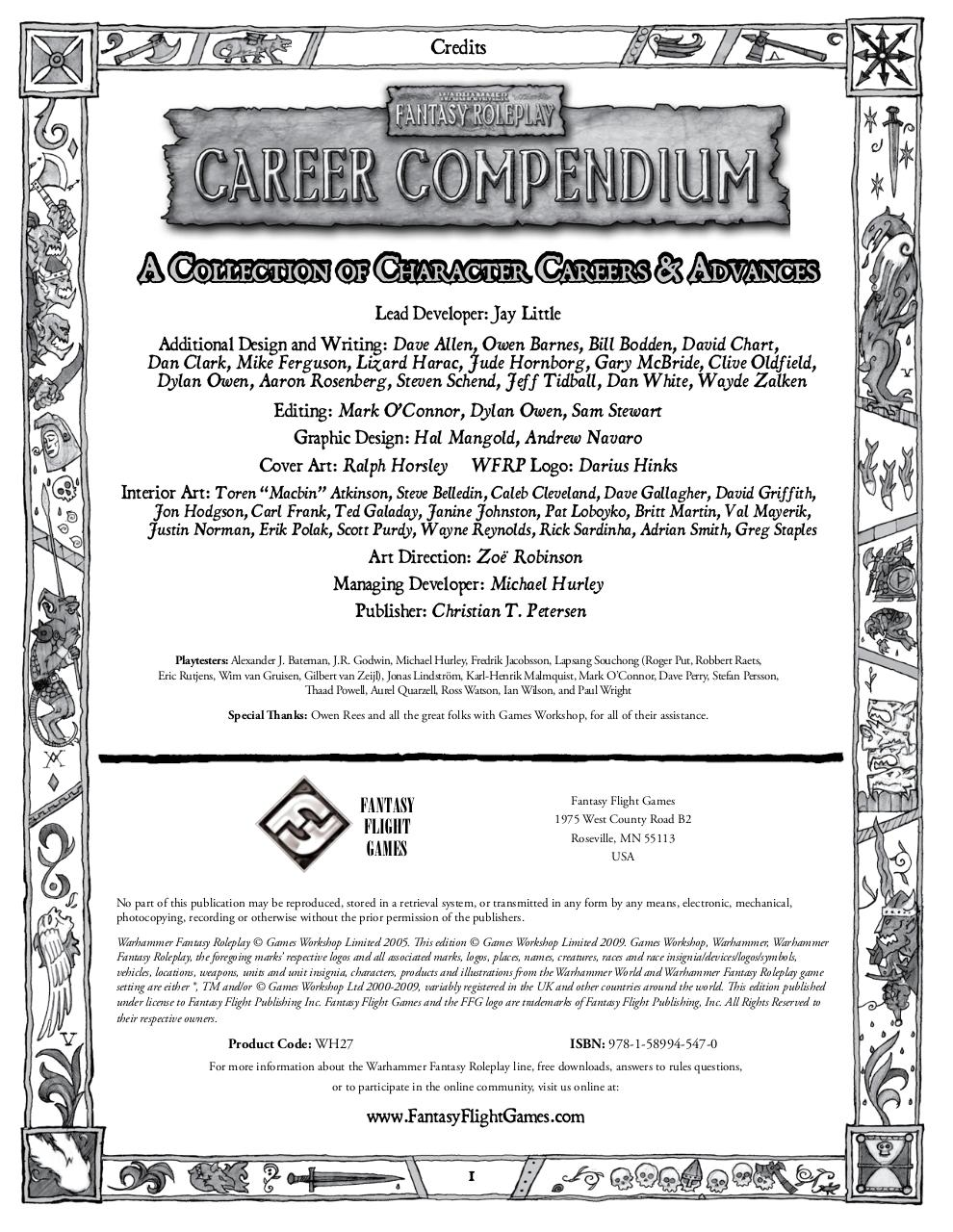 warhammer fantasy roleplay 2ed career compendium(1
