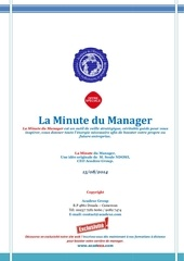 la minute du manager 15 aout 2014