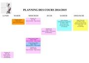 planning des cours 2014
