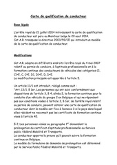 carte de qualification de conducteur