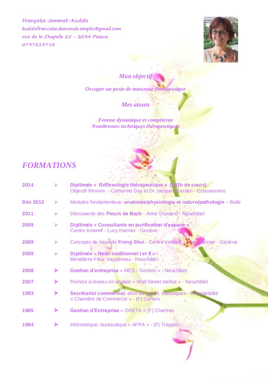 cv th u00e9rapeutique  u00b0 pdf par franc