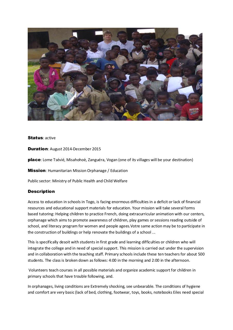 Aperçu du document Available Education  mission &intrenship in togo.pdf - page 2/5