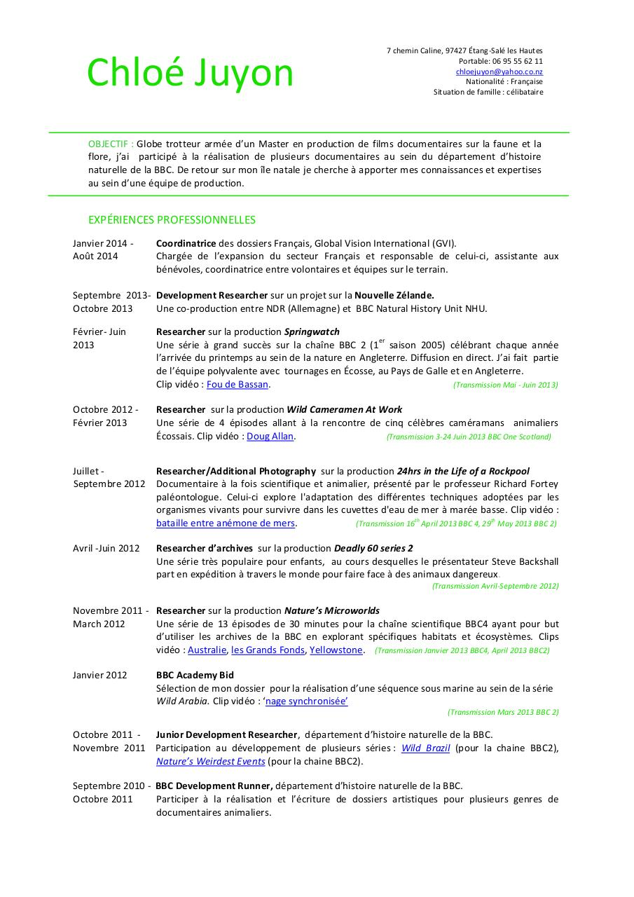 chloe juyon cv 140820 film fr par michael duffy