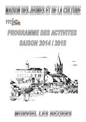 plaquette activites mjc murviel 2014 2015