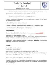 Fichier PDF debut de saison 20142015