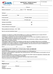 fiche inscription 2014 2015