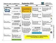 calendrier sept dEc 2014