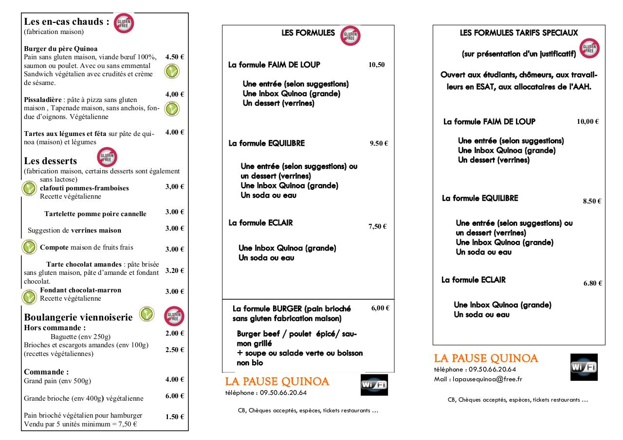 Aperçu du document carte LA PAUSE QUINOA v32 sept 2014.pdf - page 2/3