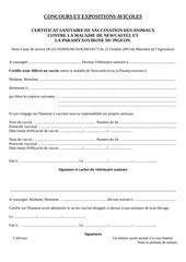 Fichier PDF certificat de vaccination