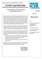 info syndicale n 24 comite de suivi rh temps partiel th0662