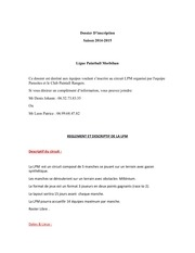 dossier d inscription lpm