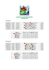 coupe du monde feminine u20 2014