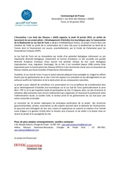 aao cepf ecotourisme communique de presse du projet lac sud