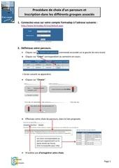 procedure formadep parcours et groupes 1