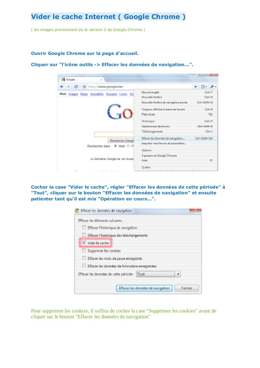 Aperçu du document Vider le cache Internet Google Chrome.pdf - page 1/1