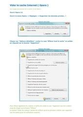 Fichier PDF vider le cache internet opera
