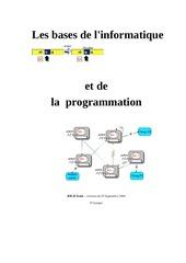 les bases de linformatique et de la programmation 914 pages