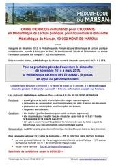 Fichier PDF annonce recrutement etudiants septembre 2014