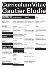 cv gautier elodie