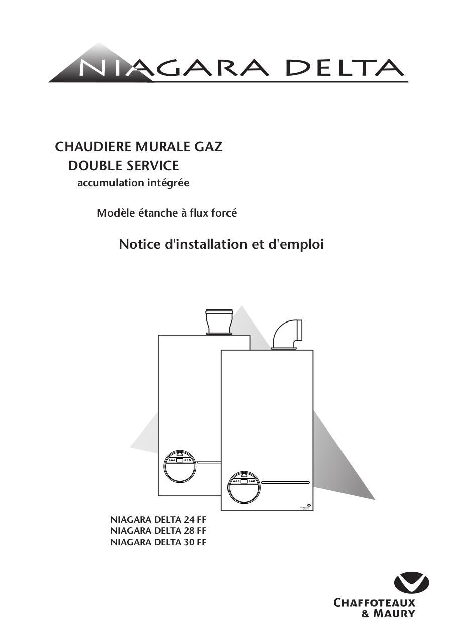 notice d 39 installation et d 39 emploi niagara delta 24 28 30 ff par chaffoteaux maury p morin. Black Bedroom Furniture Sets. Home Design Ideas