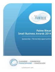 palme bleue awards 2014 sponsorship kit