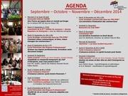 agenda dernier quadrimestre 2014