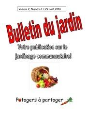 bulletin du jardin 29 aout 2014