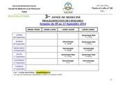 3eme annee semaine du 08 au 13 septembre 2014
