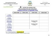 4eme annee semaine du 08 au 13 septembre 2014