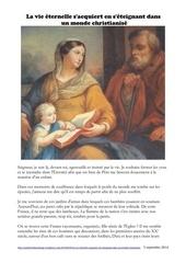 la vie eternelle s acquiert dans un monde christianise