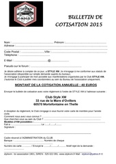 cotisation 2015