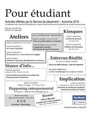 Fichier PDF affiches des activites pour etudiants 2014 2015
