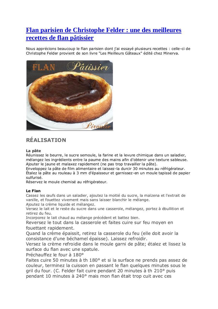 livre patisserie christophe felder gratuit pdf